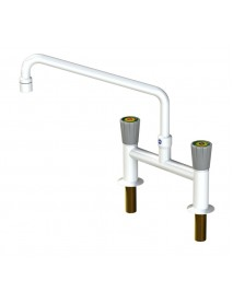 H pattern mixer tap with aerator
